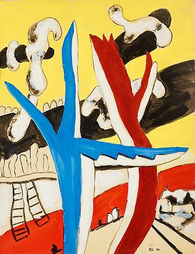 """Fernand léger, """"paysage aux vaches""""."""
