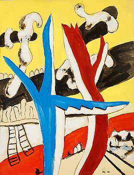 """369. FERNAND LÉGER, """"Paysage aux vaches""""."""