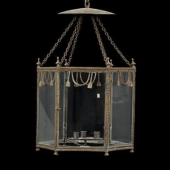 TAKLYKTA, gustaviansk, 1700-tal. Höjd ca 47 cm, ex kedjor.