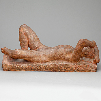 ERIC GRATE, terracotta, signerad och daterad 1944.
