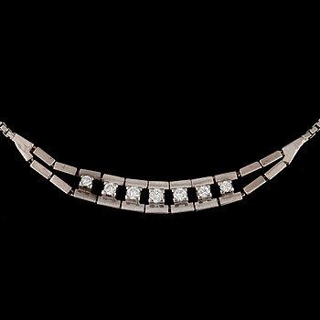 16. A diamond, circa 0.40 ct in total, necklace.