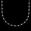 A brilliant-cut diamond longchain necklace. 82 diamonds, total carat weight circa 8.96 cts.