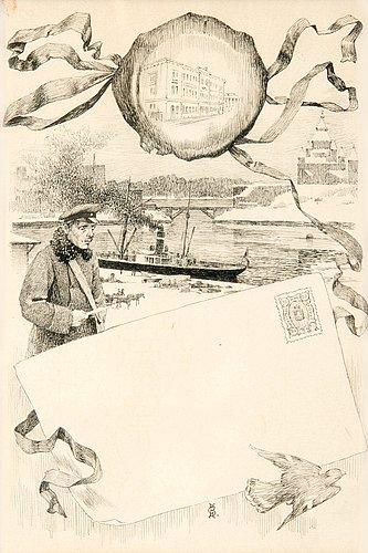 """Gunnar berndtson, illustration to the book """"finland i det 19:de seklet""""."""