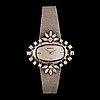 A tiffany & co ladies wristwatch. circa 1960- 70. bezel set with brilliant- and navette-cut diamonds.