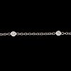 A brilliant- cut diamond chain necklace. total carat weight 1.12 cts.