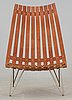 A hans brattrud teak and steel 'scandia' lounge chair, hove møbler, norway 1960's.