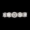 A diamond, circa 2.14 cts in total, ring.