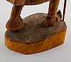 Figur, skuret trä, bengt jonsson, kedträsk, kusfors,  monogramsignerad bj, 1900-talets första hälft.