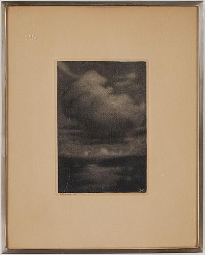 Prins eugen, akvatint, signerad med monogram i trycket. ord och bild 1936.