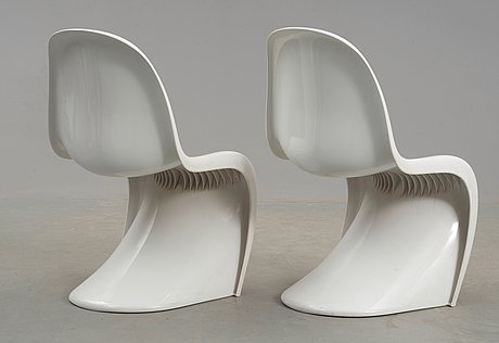 A pair of verner panton 'panton chairs', herman miller, usa 1972.
