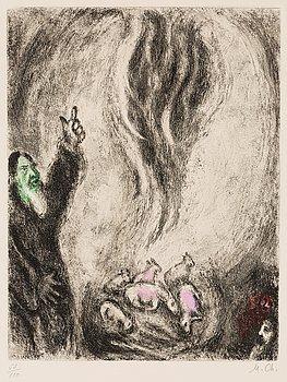 """212. Marc Chagall, """"L'offrande d'Élie"""", from: """"La Bible""""."""