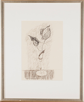 ALICE KAIRA, teckning, signerad och daterad 1987.