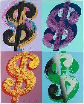 "207. Andy Warhol, ""$ (Quadrant)""."