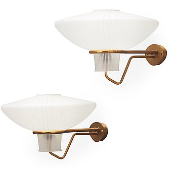 9. A pair of ASEA wall lights, Sweden 1940's-50's.