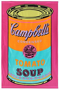 """206. Andy Warhol, """"Campbell's Tomato Soup Banner""""."""