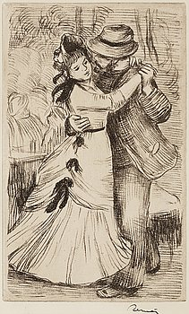 "311. Pierre-Auguste Renoir, ""La danse a la campagne""."