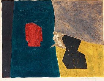 """310. Serge Poliakoff, """"Composition bleue jaune et grise""""."""