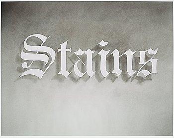 "414. Edward Ruscha, ""Stains""."