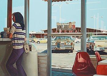 "415. Ralph Goings, ""Hot Fudge Sundae Interior""."