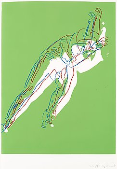 """214. Andy Warhol, """"Speed skater"""" (Deluxe Edition)."""