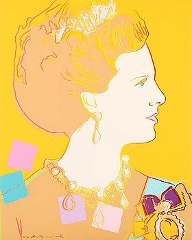 "212. Andy Warhol, ""Queen Margrethe II of Denmark""."