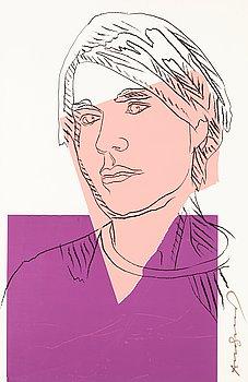 "211. Andy Warhol, ""Self-Portrait""."