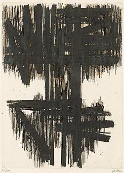 """312. Pierre Soulages, """"Eau-Forte No VI""""."""