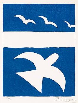 209. Georges Braque, Les oiseaux bleus, from: Verve Vol 8, No 31-32.