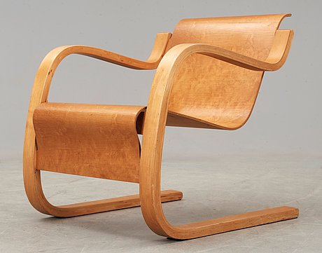 An alvar aalto model nr 31 birch armchair, executed on license by aalto design hedemora sweden 1945-54.