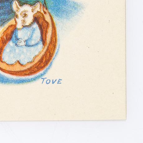 Vykort, 10 st, efter tove jansson, signerade i trycket, taidekorttikeskus 1941.