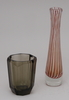 Vaser, glas, 2st. bla eda glasbruk 1938.