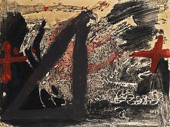 "314. Antoni Tàpies, From: ""Negre i roig""."
