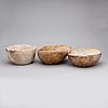 Vrilskålar, 3 st, allmoge, 1800-tal.