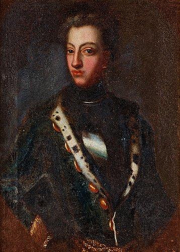 "David von krafft his studio, ""king charles xii"" (1682 - 1718)."