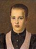 Arvid liljelund, portrait of a girl.