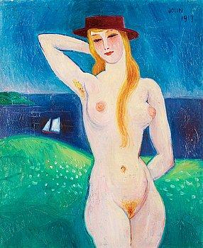 11. Einar Jolin, Woman in hat.
