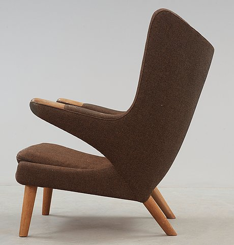 """Hans j wegner, fåtölj, """"bamse"""", ap-stolen, danmark sannolikt 1950-60-tal."""