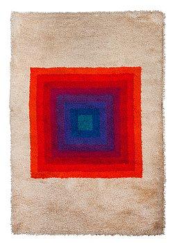 "123. VERNER PANTON, RUG. ""Square, Multi colour"". Machine made pile. 196 x 134,5 cm. Designed by Verner Panton."