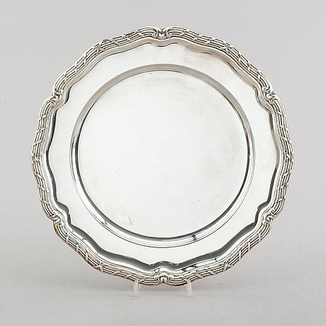 Fat, silver, cg hallberg, stockholm 1949. vikt ca 566 gram.