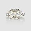 A radiant-and fancy-cut diamond ring. total carat weight circa 6.02 cts.