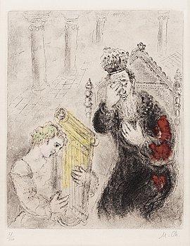 """211. Marc Chagall, """"Saül et David"""", ur: """"La Bible""""."""