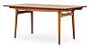 A hans j wegner teak dining table, andreas tuck, denmark 1950's-60's.