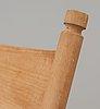 A hans j wegner ash 'ch-45' rocking chair, by carl hansen & son, denmark.