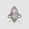 A 3.02 ct marquise-cut diamond ring. quality g/vs2 according to certificate from gia.