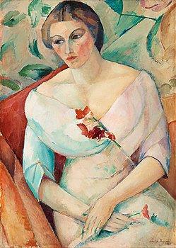 """15. Leander Engström, """"Konstnärens hustru"""" (The artists wife)."""