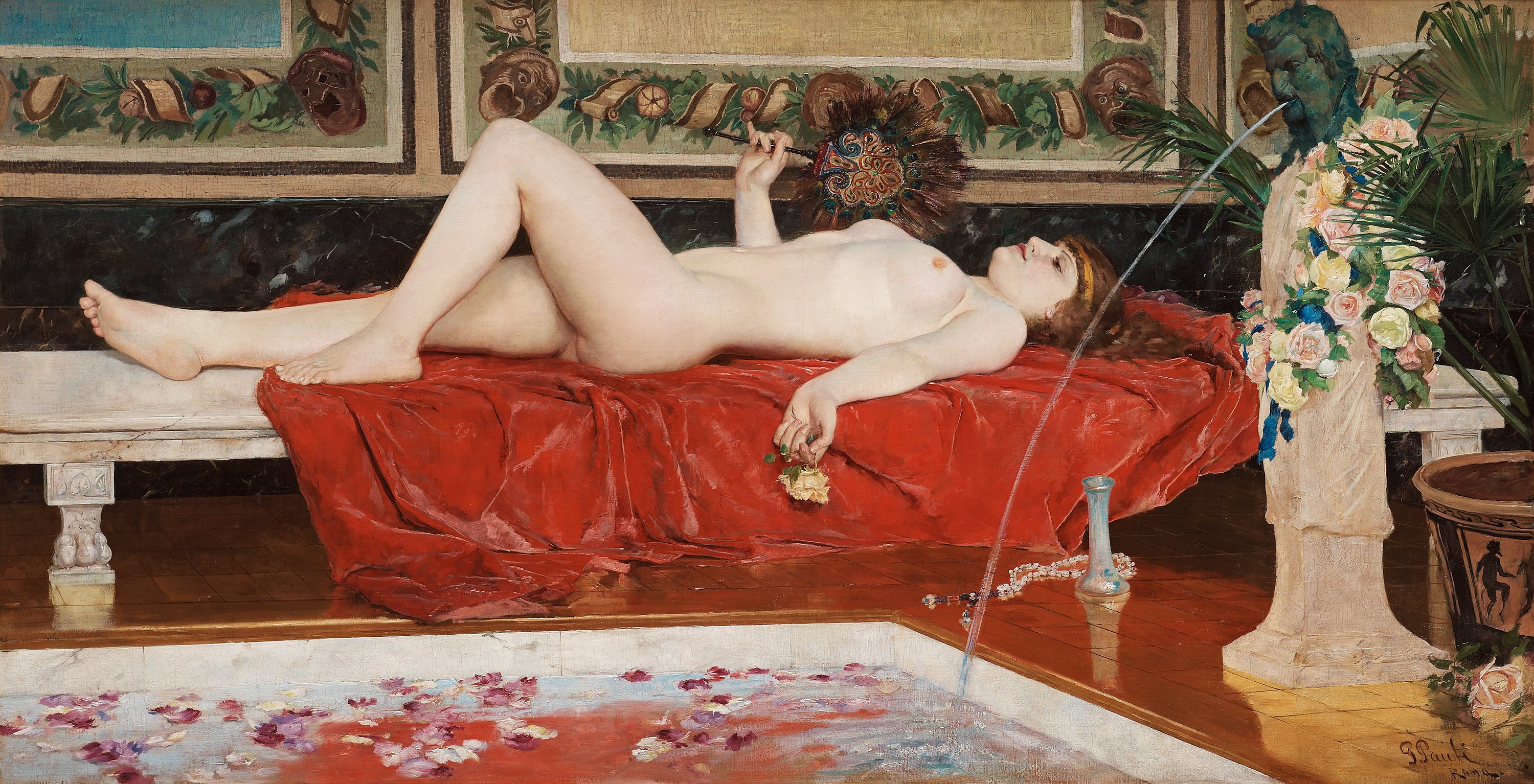 girls painting a house nude