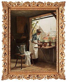 649. HENRIK NORDENBERG, Kvinna vid fönster.