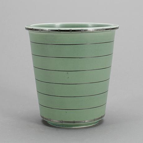 "Vas, stengods, ""argenta celadon"" wilhelm kåge, gustavsberg."