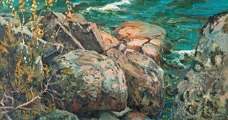 Helmi biese, cliffs by the shore.
