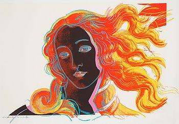 "208. Andy Warhol, ""Venus"", from: ""Details of renaissance paintings (Sandro Botticelli, Birth of Venus, 1482)""."